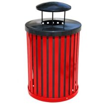 Plastic-Coated Steel Slatted Receptacles