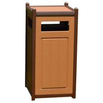 Two-Tone Panel Design Waste Receptacles with Side Access Door