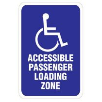 ADA Symbol, Accessible Passenger Loading Zone Sign