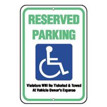 Accessible Symbol, Reserved Parking Sign