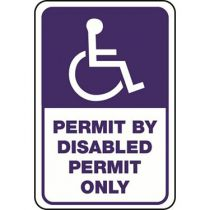 ADA Symbol, Permit By Disabled Permit Only Sign