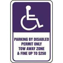 ADA Symbol, Parking Disabled Permit Only Sign