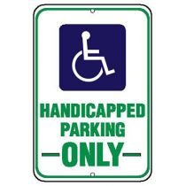 ADA Symbol, Handicapped Parking Only Sign