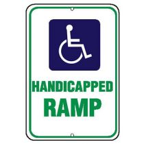 ADA Symbol, Handicapped Ramp Sign