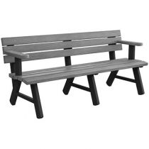 A-Frame Bench with Armrests – Wood Grain Naturals