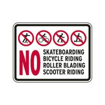No Skateboarding Bicycle Riding Roller Blading Scooter Riding