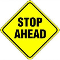 Stop Ahead Warning Sign