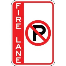 Fire Lane with No Parking Symbol - Side Bar Sign