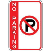 No Parking with Symbol - Side Bar Sign