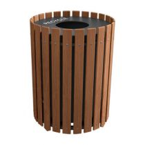 Round Slatted Recyclers - Wood Grain Naturals