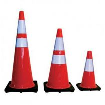 Black Based Traffic Cones