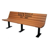 Silhouette Memorial Benches