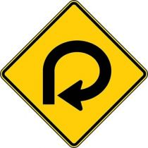270 Degree Loop Symbol Sign