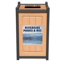 Two-Tone Panel Design Custom Signage Recycling Containers