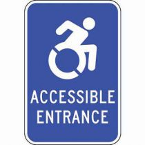 ADA Accessible Entrance Updated Accessible Symbol Sign