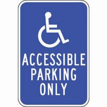 Accessible Symbol, Accessible Parking Only Sign
