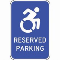 ADA Reserved Parking Blue Updated Accessible Symbol Sign