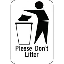 Please Don't Litter with Symbol Sign