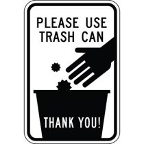 Please Use Trash Can with Symbol Sign