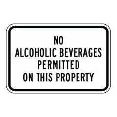 No Alcoholic Beverages Permitted On This Property Sign