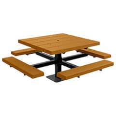 BarcoBoard™Square Pedestal Picnic Tables