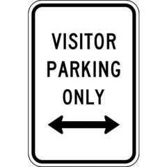 Visitor Parking Only w/ Double Arrow Sign