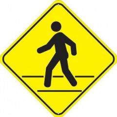 Crosswalk Warning Sign