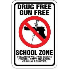 Drug Free Gun Free School Zone Violators Will Face Penalties