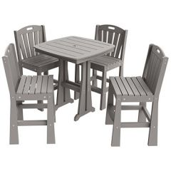 Sunburst 5-Piece Bar Height Patio Dining Set