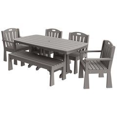 Sunburst 6-Piece Large Patio Dining Set