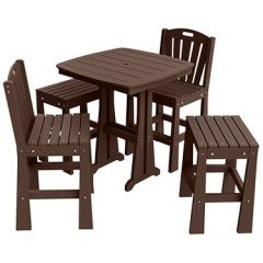 Sunburst 5-Piece Mixed Bar Height Patio Dining Set