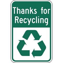 Thanks For Recycling with Symbol Sign
